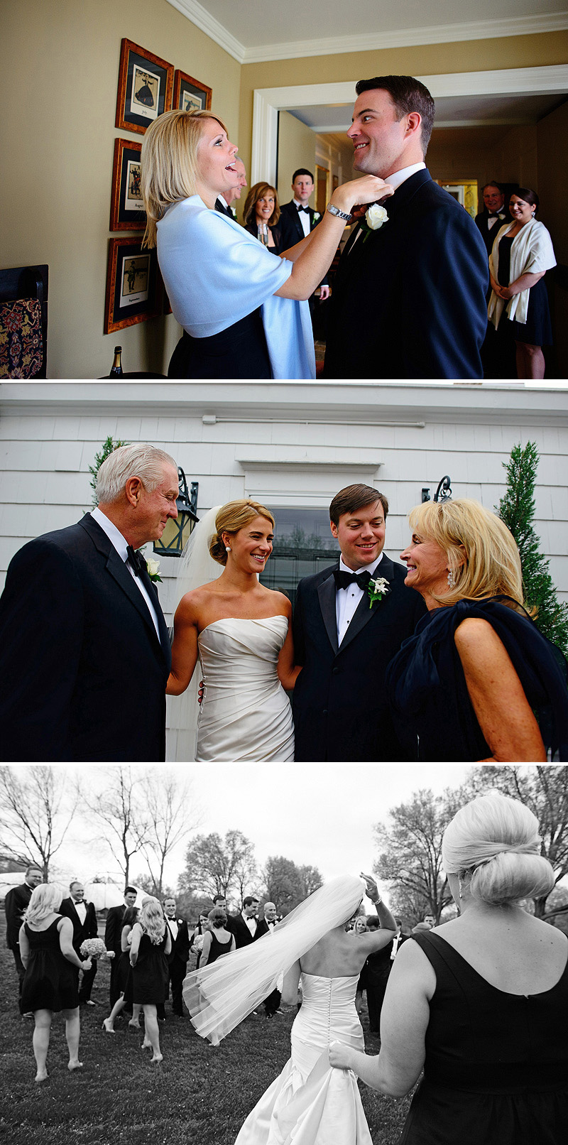 Fun family photos on a wedding day.
