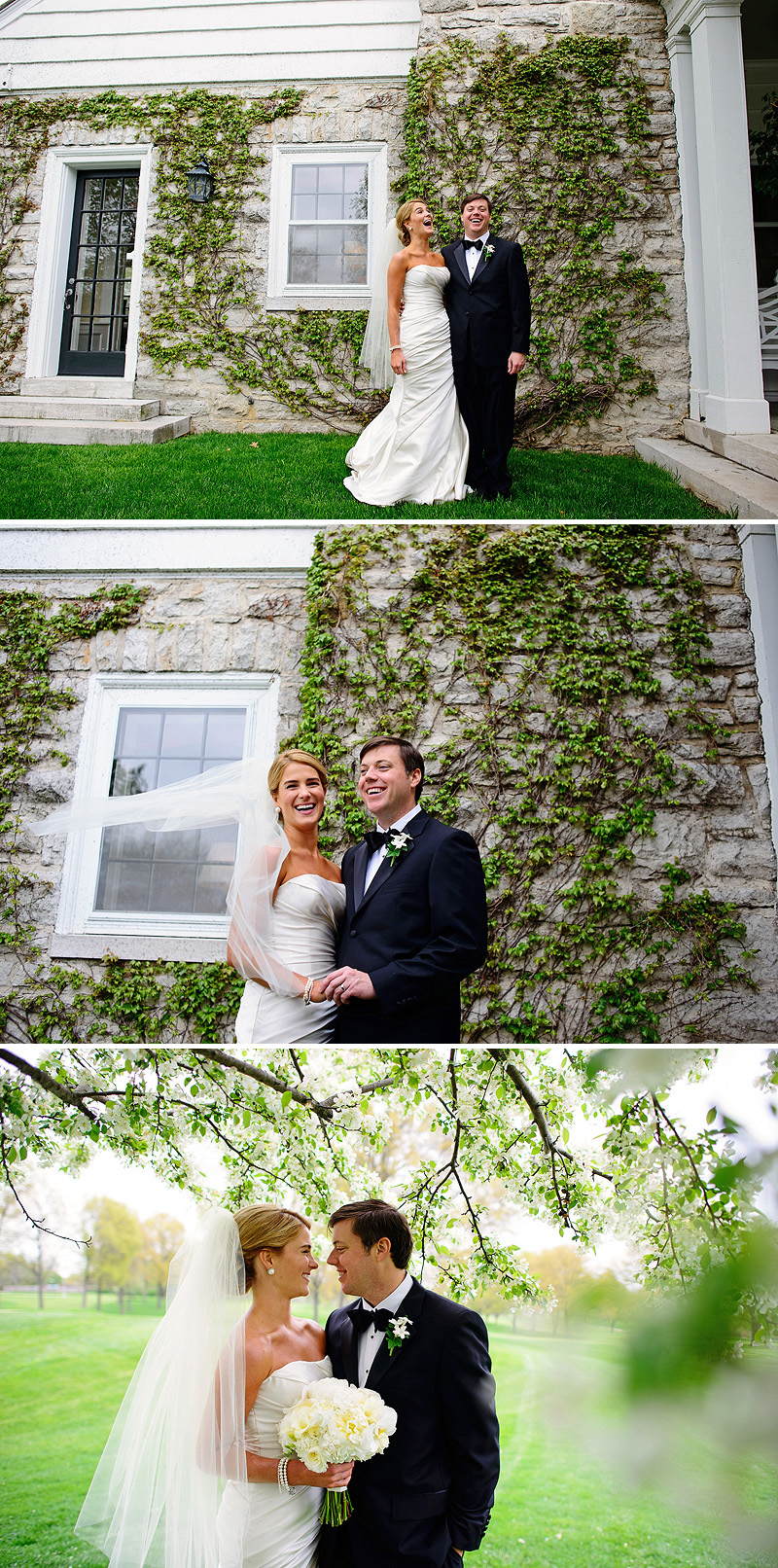 Fun bride and groom portraits in Kansas City.