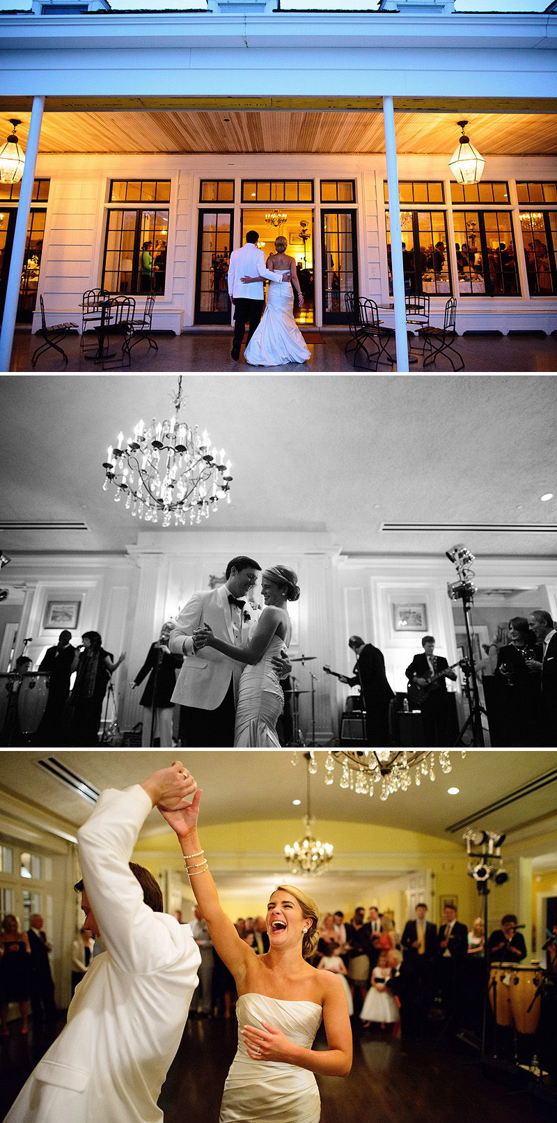 Sweet first dance at a Kansas City Country Club wedding reception.