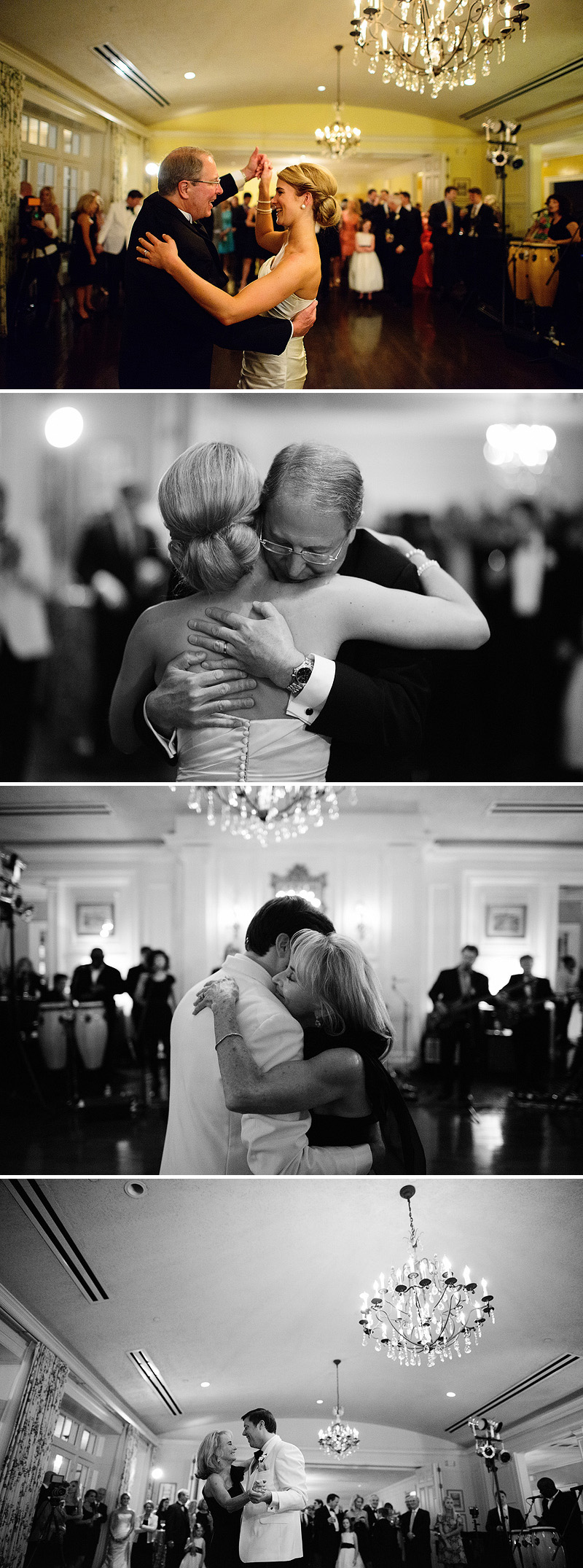 Father Daughter, Mother Son dance at a Kansas City wedding reception.