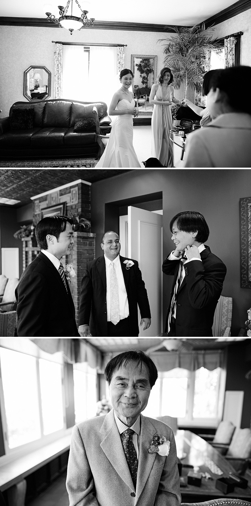 Guys hanging out before a wedding.