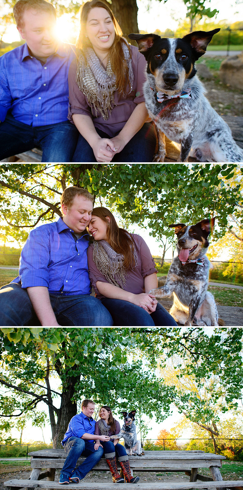 Engagement photo inspiration with their dog.