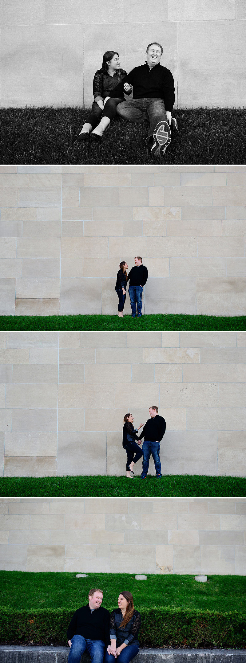 Engagement pictures at Liberty Memorial.