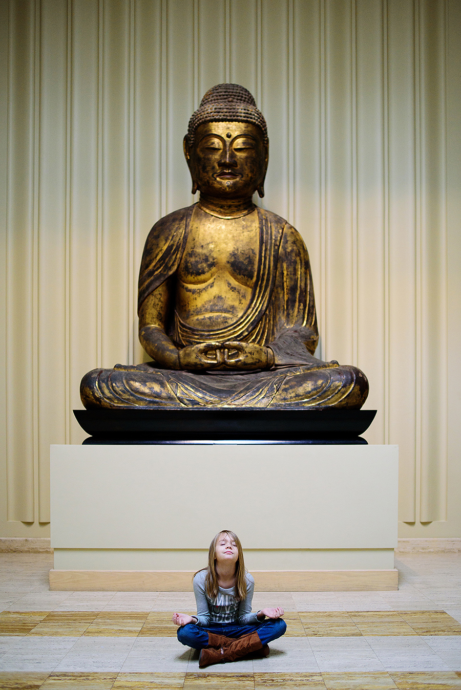 moment of zen at the nelson-atkins art museum in kansas city