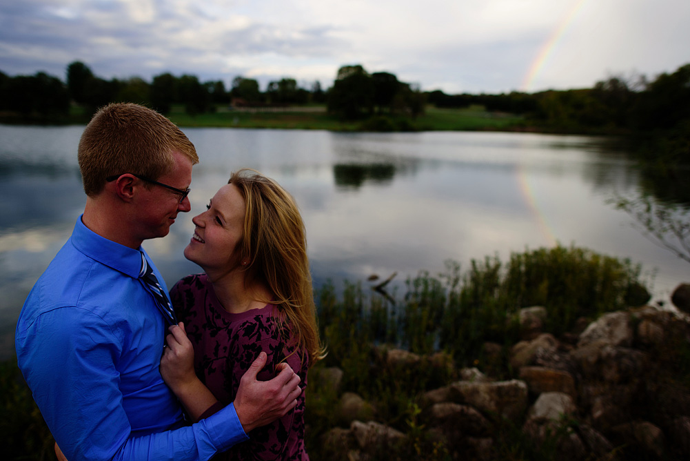 awesome rainbow engagement picture